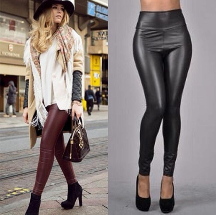 High Waist Faux Leather Leggings On SALE!!!!